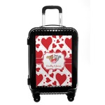 Cute Squirrel Couple Carry On Hard Shell Suitcase (Personalized)