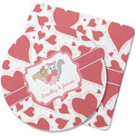 Cute Squirrel Couple Rubber Backed Coaster (Personalized)