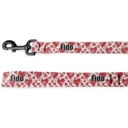 Cute Squirrel Couple Deluxe Dog Leash (Personalized)