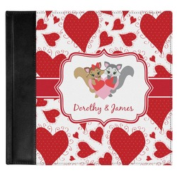 Cute Squirrel Couple Genuine Leather Baby Memory Book (Personalized)
