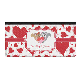 Cute Squirrel Couple Genuine Leather Checkbook Cover (Personalized)
