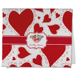 Cute Raccoon Couple Kitchen Towel - Full Print (Personalized)