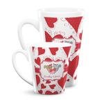Cute Squirrel Couple Latte Mug (Personalized)