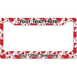 Cute Raccoon Couple License Plate Frame (Personalized)