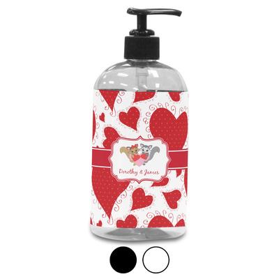Cute Raccoon Couple Plastic Soap / Lotion Dispenser (Personalized)