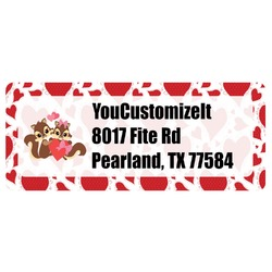 Cute Squirrel Couple Return Address Labels (Personalized)