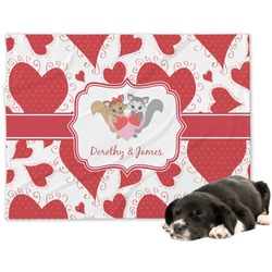 Cute Squirrel Couple Minky Dog Blanket (Personalized)
