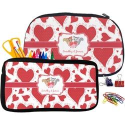 Cute Squirrel Couple Pencil / School Supplies Bag (Personalized)