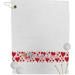 Cute Raccoon Couple Golf Towel (Personalized)