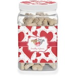 Cute Squirrel Couple Dog Treat Jar (Personalized)