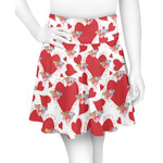 Cute Squirrel Couple Skater Skirt (Personalized)