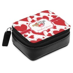 Cute Squirrel Couple Small Leatherette Travel Pill Case (Personalized)
