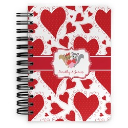 Cute Squirrel Couple Spiral Bound Notebook - 5x7 (Personalized)