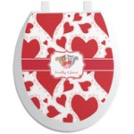 Cute Raccoon Couple Toilet Seat Decal (Personalized)