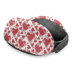 Cute Squirrel Couple Travel Neck Pillow (Personalized)
