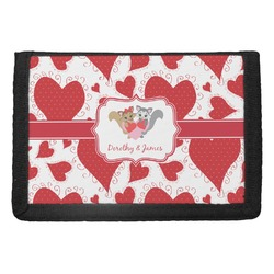 Cute Raccoon Couple Trifold Wallet (Personalized)