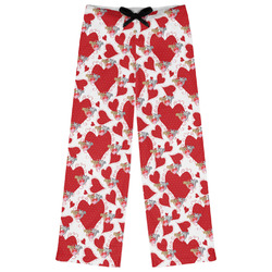 Cute Squirrel Couple Womens Pajama Pants - XL (Personalized)