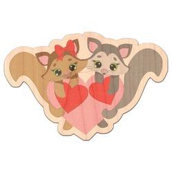 Cute Squirrel Couple Genuine Wood Sticker (Personalized)