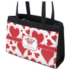 Cute Squirrel Couple Zippered Everyday Tote w/ Couple's Names