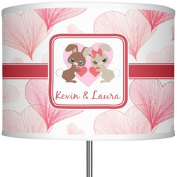 "Hearts & Bunnies 13"" Drum Lamp Shade (Personalized)"