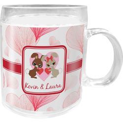 Hearts & Bunnies Acrylic Kids Mug (Personalized)