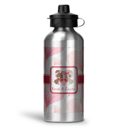 Hearts & Bunnies Water Bottle - Aluminum - 20 oz (Personalized)