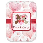 Hearts & Bunnies Baby Swaddling Blanket (Personalized)