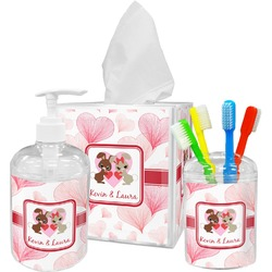 Hearts & Bunnies Bathroom Accessories Set (Personalized)