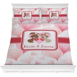 Hearts & Bunnies Comforter Set (Personalized)