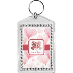 Hearts & Bunnies Bling Keychain (Personalized)