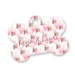 Hearts & Bunnies Bone Shaped Dog Tag (Personalized)