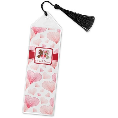 Hearts & Bunnies Book Mark w/Tassel (Personalized)
