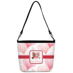 Hearts & Bunnies Bucket Bag w/ Genuine Leather Trim (Personalized)