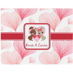 Hearts & Bunnies Placemat (Fabric) (Personalized)