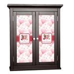 Hearts & Bunnies Cabinet Decal - Custom Size (Personalized)