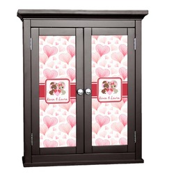 Hearts & Bunnies Cabinet Decal - Small (Personalized)