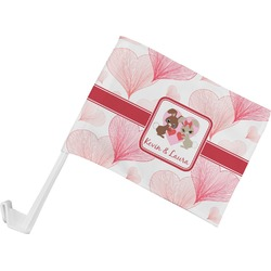 Hearts & Bunnies Car Flag (Personalized)