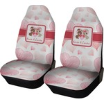 Hearts & Bunnies Car Seat Covers (Set of Two) (Personalized)