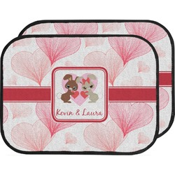 Hearts & Bunnies Car Floor Mats (Back Seat) (Personalized)