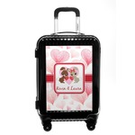 Hearts & Bunnies Carry On Hard Shell Suitcase (Personalized)