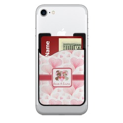 Hearts & Bunnies 2-in-1 Cell Phone Credit Card Holder & Screen Cleaner (Personalized)