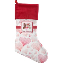 Hearts & Bunnies Christmas Stocking (Personalized)