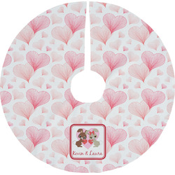Hearts & Bunnies Tree Skirt (Personalized)
