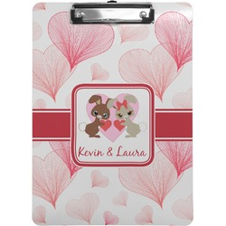 Hearts & Bunnies Clipboard (Personalized)