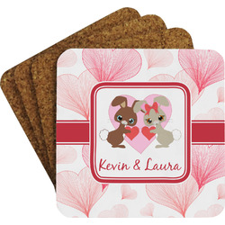 Hearts & Bunnies Coaster Set (Personalized)