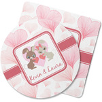 Hearts & Bunnies Rubber Backed Coaster (Personalized)