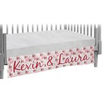 Hearts & Bunnies Crib Skirt (Personalized)