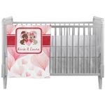 Hearts & Bunnies Crib Comforter / Quilt (Personalized)