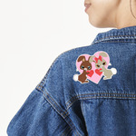 Hearts & Bunnies Large Custom Shape Patch (Personalized)