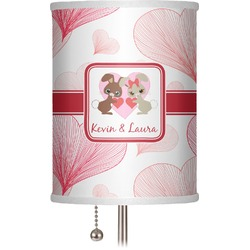 "Hearts & Bunnies 7"" Drum Lamp Shade (Personalized)"